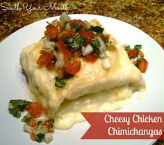 South Your Mouth: Cheesy Chicken Chimichangas