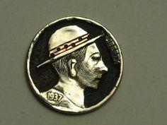 Hobo Nickel by John DeMarco with Copper Inlay Hobo Nickel, Porsche Logo, Buffalo, Copper, Ebay, Brass, Water Buffalo