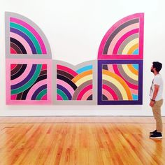 """-Frank Stella Hagamatana II - Photo by @blytheivory. Thank you for visiting Museu Berardo in Lisbon and for taking this photo Blythe. // Obrigado por visitar o Museu Berardo e fazer esta foto Blythe. . Original caption: Art & colour & @rubenclavell - these are a few of my favourite things! """" . Tag your photos with #museuberardo and get featured in the museum feed. Follow @museuberardo on Instagram!"""