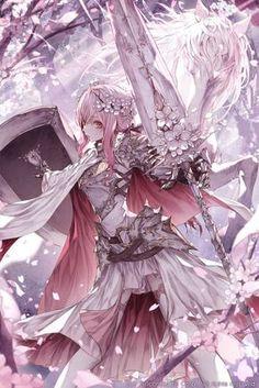 32 New Ideas For Warrior Concept Art Anime Girls Girls Anime, Anime Art Girl, Manga Girl, Anime Angel, Anime Fantasy, Fantasy Art, Manga Anime, Anime Krieger, Art Anime Fille