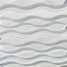 Shop 12 x 11 3/4 Allure Daydream Haze Polished Stone + Glass Tile in Asian Statuary and White at TileBar.com.