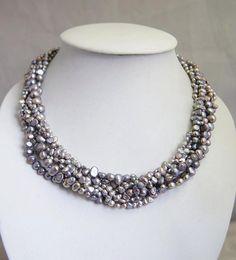 pearl necklacebeaded jewelrymothers jewelryMulti by audreyjewelry, $29.50