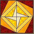 Yellow Dervish Quilt Block by Marcia Hohn. I love this pattern. Time to make a new one