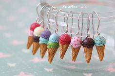 Ohrringe - Eistüten, Eiscreme // icecream earrings by PetitPlat ::: Handgemachte Miniaturen zum Tragen via DaWanda.com