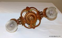 www.etsy.com/shop/AnnsLights    1930 Art Deco Nouveau design, vintage hanging antique lamp ceiling light fixture. Rewired.  The metal is not cast iron. Made of a light weight cast metal.  Original polychrome colors, finish.     So You Want To Be A Picker? Online Course -CLICK ON THE PICTURE ABOVE ^^^