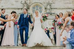 Confetti time! Lulworth Castle Wedding | Dorset Wedding Photographer