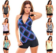 Ladies Push up Tankini with hotpants/Panty two pieces different colors f2581 >>> Check this awesome item by going to the link at the image.