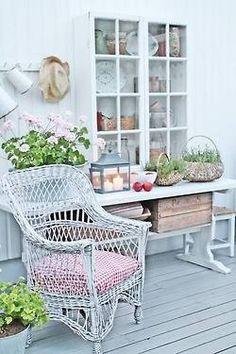 Cottage  baskets on table