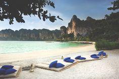 & the blissful beach of Rayavadee Resort Thailand