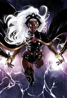 Black Characters, Comic Book Characters, Comic Character, Female Characters, Comic Books, Marvel Comics Art, Marvel Dc Comics, Marvel Heroes, Storm Xmen