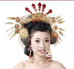 Costume bridal jewelry costume Coronet Xiapei chinese traditional hanfu headdress not all accessories(China (Mainland))