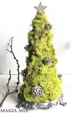 Chartreuse Reindeer Moss Tabletop Tree