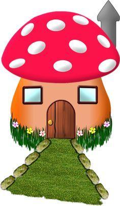 Photo from album on Yandex. Art Drawings For Kids, Drawing For Kids, Easy Drawings, Art For Kids, Crafts For Kids, Mushroom House, Mushroom Art, Holly Hobbie, 2 Clipart