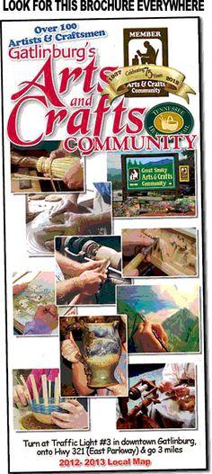 The arts crafts loop in gatlinburg hosts hundreds of for Gatlinburg arts and crafts community restaurants