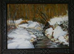 Spring Thaw — 9x12 oil on paper, 2007 - sold at Unitarian Universalist auction in Hendersonville, NC, 2014, buyer unknown