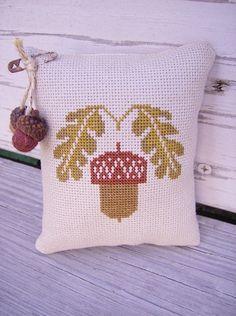 Cross Stitch Prairie Schooler Autumn Acorn Mini by Stitchcrafts, $20.00