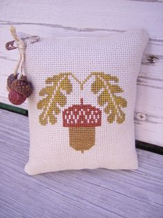 Cross Stitch Prairie Schooler Autumn Acorn Mini by Stitchcrafts, $20.00