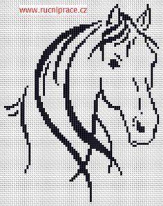 Horse, free cross stitch patterns and charts - www.free-cross-stitch.rucniprace.cz