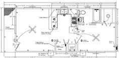 Cabin floor plans fly com and floor plans on pinterest for 16x40 cabin plans