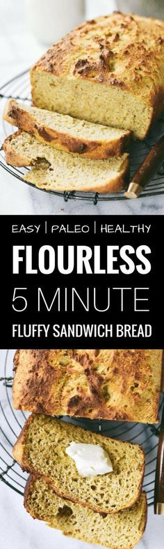 There IS life after wheat! 5 Minute Perfect paleo sandwich bread. Toastable. Sandwichable. Low carb. Grain free. Yeast free. Light. Fluffy. Awesome crust. Paleo bread recipe. Fluffy sandwich bread recipe. Best gluten free sandwich bread. Best paleo bread. Best paleo sandwich bread. Homemade bread. Best soft and fluffy gluten free sandwich bread. Toastable. Light and fluffy. Easy gluten free bread recipes. best paleo sandwich bread recipes. Easy paleo bread recipes.