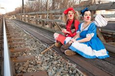 2012 Toronto Fringe Festival: Of Mice And Morro And Jasp. Heather Marie Annis (Morro) and Amy Lee (Jasp). Photo by Alex Nirta. Female Clown, Amy Lee, Sister Love, Funny Faces, Funny People, Movie Tv, Comedy, Clowns, Disney Princess