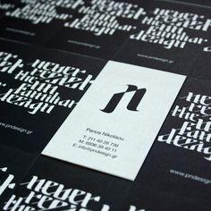 Minimalistic Custom Business Card - Panos Nikolaou