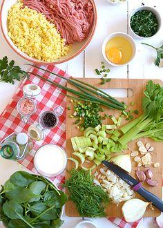 Pulpeciki drobiowe w lekkim zielonym sosie warzywnym - etap 1