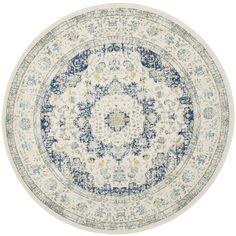 Safavieh Evoke Ivory/ Blue Rug (9' Round)