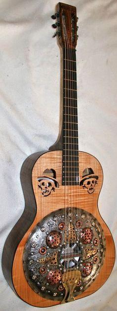 Mike Callahan Resonator Guitar #LardysChordophoneOfTheDay #Guitar ~ https://www.pinterest.com/lardyfatboy/lardys-other-fretted-chordophones-of-the-day ~