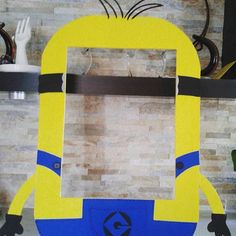Minions Frame Photo Booth by mariscraftingparty on Etsy