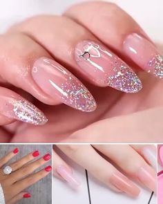 Nagellack Say goodbye to short, broken and split nails. Perfect nails in an instant, straight from y Polygel Nails, Shiny Nails, Cute Nails, Acrylic Nail Designs, Nail Art Designs, Acrylic Nails, Gel Set, Nailed It, Nagel Bling