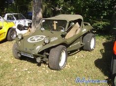 Military look Vw Beach, Beach Buggy, Vw Dune Buggy, Dune Buggies, Maserati, Combi Wv, Vw Rat Rod, Volkswagen, Automobile