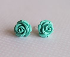 Dyed Coral 925 Sterling Silver Stud Earrings. Mint by earringsAND, $16.50