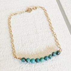 Turquoise Bead Bracelet with Gold Chain. Also available with silver or rose chain. 1 Gram Gold Jewellery, Gold Jewellery Design, Body Jewellery, Where To Sell Gold, Wholesale Gold Jewelry, Gold Chains For Men, Turquoise Jewelry, Jewelry Gifts, Jewelry Shop