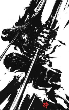 Samurai Sumi Spirit 1, Deryl Braun on ArtStation at https://www.artstation.com/artwork/rJYLe