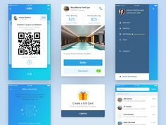 A selection of key screens and card elements for an app that makes it effortless to refer your favourite businesses to friends. This is part of a much larger ecosystem designed for merchants and co...