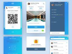 Card UI design for mobile iPhone iOS app
