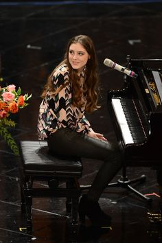 Birdy Birdy attends the closing night of the 63rd Sanremo Song Festival at the Ariston Theatre on February 16, 2013 in Sanremo, Italy.