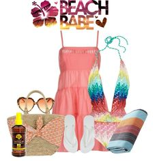 """""""A Day at the Beach"""" by diane-shelton on Polyvore"""