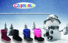 Winter is coming and snow is on the horizon so keep those little ones nice and warm with our suede and snow boots! www.chipmunksfootwear.co.uk