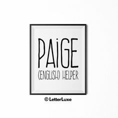 Paige Printable Kids Gift  Name Meaning by LetterLuxePrintables