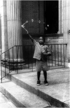 (The Bubble Boy, Harlem, 1999. Photo by © Matt Weber. ☀)
