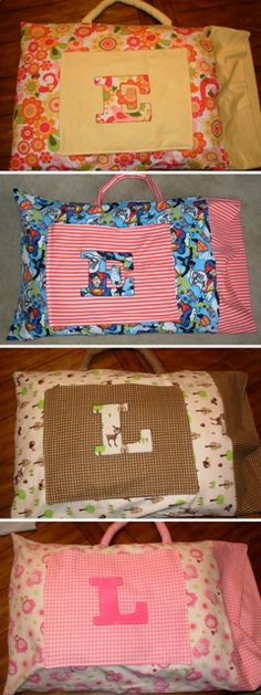Well, here they are: my road-trip pillowcases!  I made them with flannel to be extra snuggly.  I picked the fabric to match the personalities of each of my kids.  I think they turned out pretty darn good, and for not too terribly much time and work.