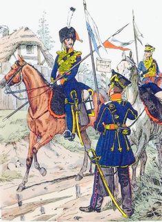 Cavalieri del rgt. di cavalleria nazionale della Prussia orientale