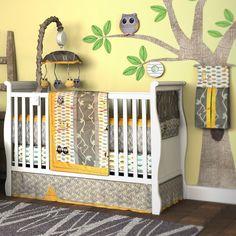 Found it at Wayfair - My Baby Hoo Owl 10 Piece Crib Bedding Set Mens Bedding Sets, Baby Bedding Sets, Bedding Sets Online, Owl Baby Rooms, Baby Room Decor, Owl Bedding, Nursery Bedding, Comforter, Bedside Crib