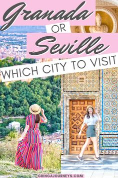 OR SEVILLE: WHICH CITY SHOULD I VISIT? Having a hard time choosing between Granada or Seville? This post explains the reasons to visit each, hopefully aiding you in deciding which to visit. Europe Destinations, Europe Travel Tips, European Travel, Budget Travel, Travel Ideas, Travel Hacks, Travel Packing, Solo Travel, Holiday Destinations