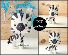 Zebra PDF Pattern by Noialand on Etsy