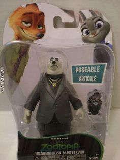 Disney Zootopia Movie Toy Character Pack, Mr. Big and Kevin NEW #TOMY