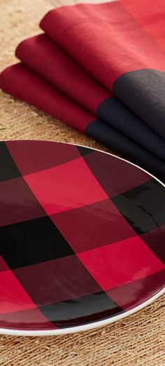 Napkins/ Plates - keep with the plaid theme instead of using the caterers napkins