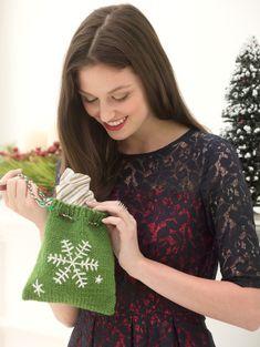Free pattern - Snowflake Gift Bag